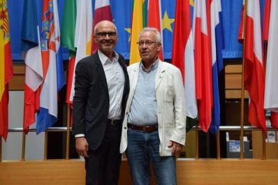Peter Simon (MdEP) mit Hans-Jürgen Gottwald